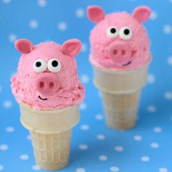 Ice Cream Cone Pigs