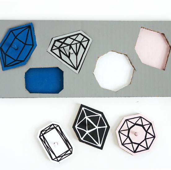 Cardboard Gem Puzzle