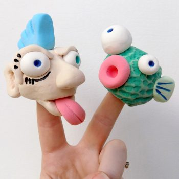 Model Magic Finger Puppets