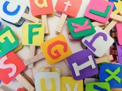 Clothespin Alphabet Set