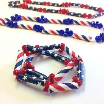Patriotic Straw Necklace