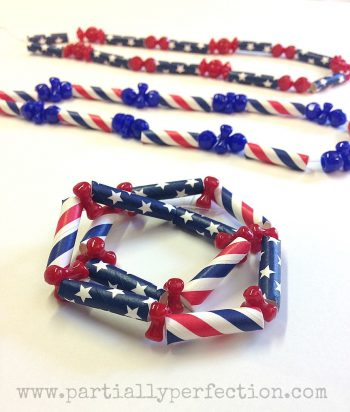 Patriotic Straw Necklace