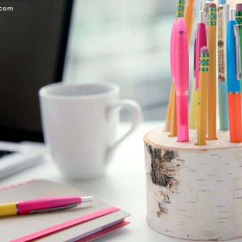 Birch Wood Pencil Holder