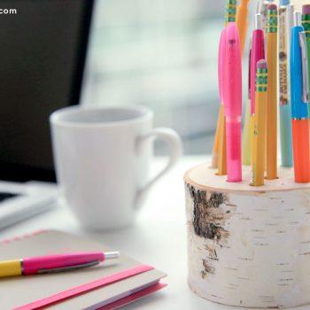 Birch Wood Pencil Holder