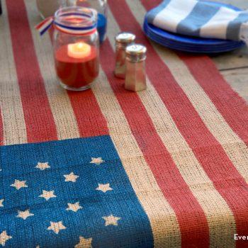 Flag-Inspired Table Runner