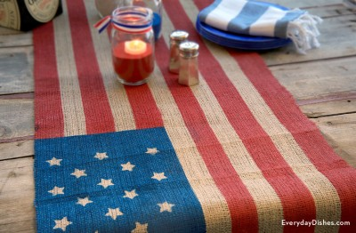 Flag-Inspired Table Runner