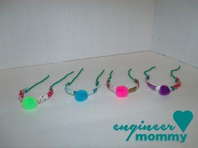 Washi Tape and Pom Pom Bracelets