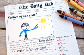Father's Day Newspaper Printable