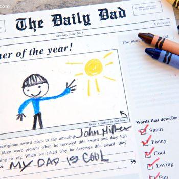 Father's Day Newspaper Printable