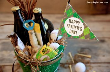 Golf-themed Father's Day Gift Basket