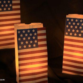 Patriotic Paper Lantern