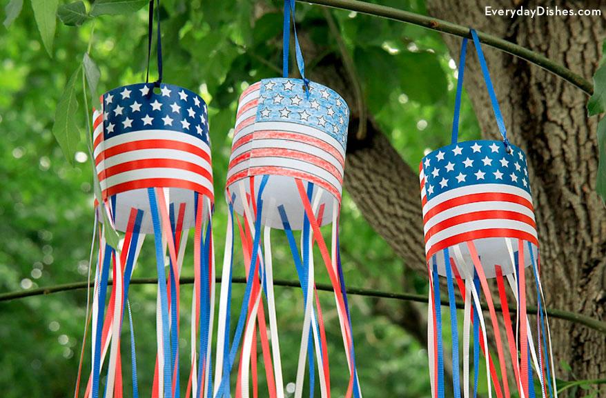 Printable Patriotic Windsock Fun Family Crafts