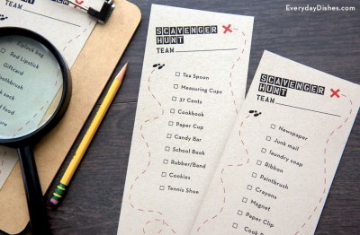 Printable Scavenger Hunt