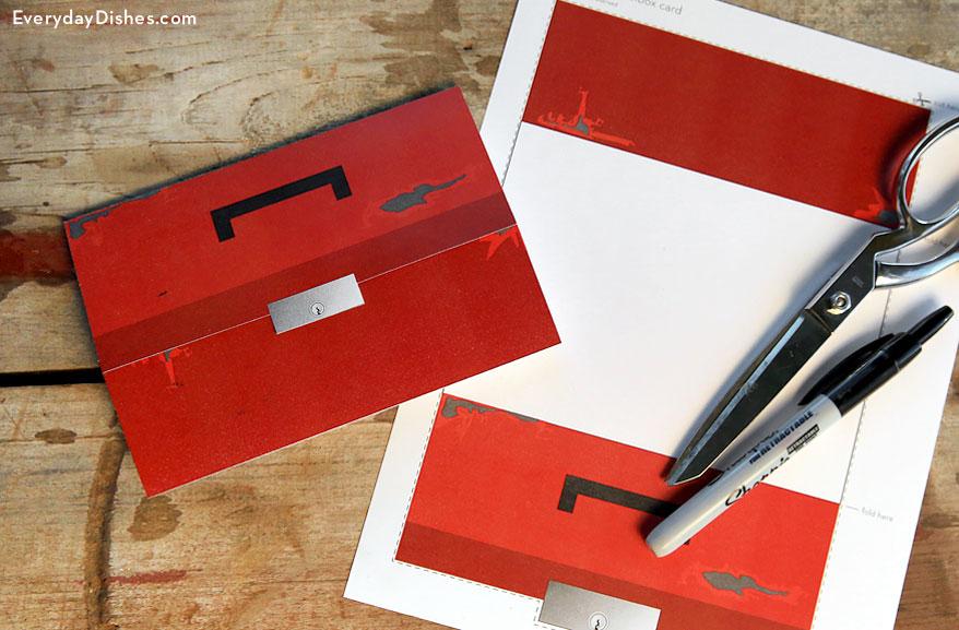 Printable Toolbox Card | Fun Family Crafts
