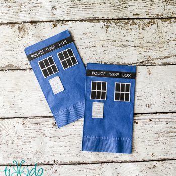 Doctor Who Paper Napkins and Plates