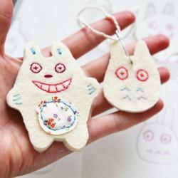 Totoro Felt Pin