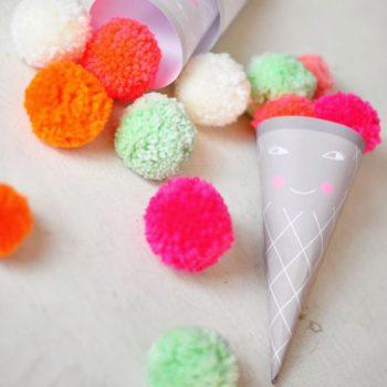 Ice Cream Pom Poms