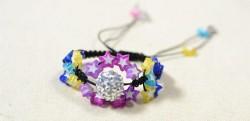 Star Bead Woven Bracelet