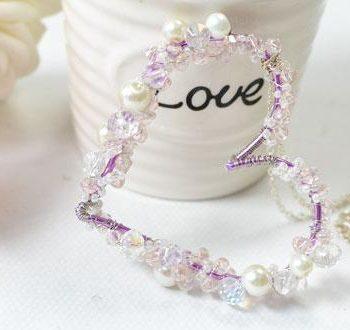 Beaded Heart Pendant Necklace
