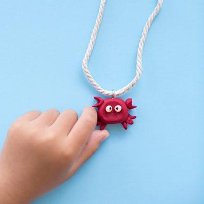 Clay Crab Necklace