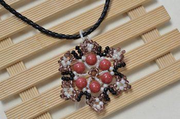 Seed Bead Snowflake Pendant