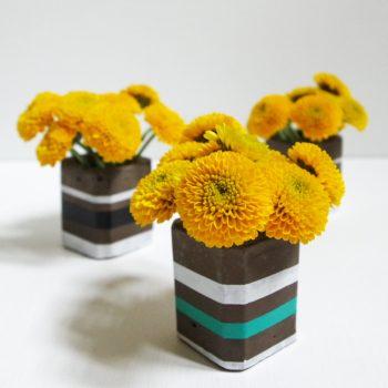 Cement Bud Vases