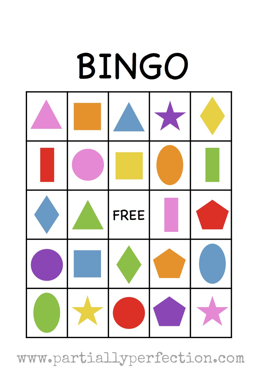 Lucrative image pertaining to shape bingo printable