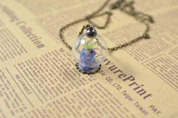 Lampwork Bead Pendant Necklace