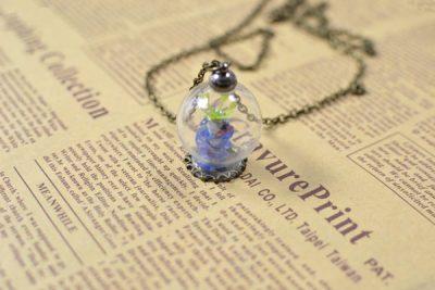 Lampwork Bead Pendant Necklace