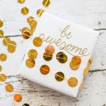Gold Garland Gift Wrap