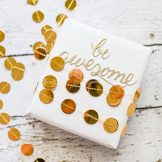 Gold Garland Gift Wrap