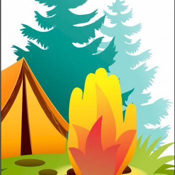 Printable Handprint Campfire Project