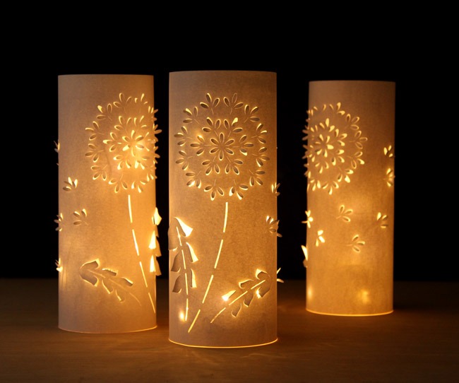 Dandelion Paper Lanterns Fun Family Crafts