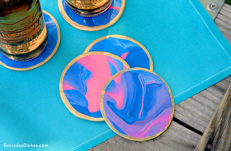 Oven-Baked Clay Coasters | Fun Family Crafts