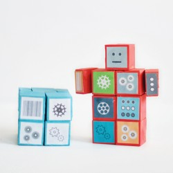Wood Robot Cube Toy