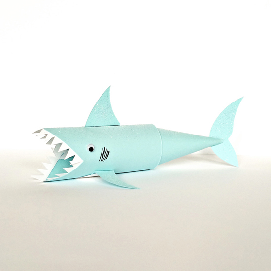 Shark Paper Tube Craft