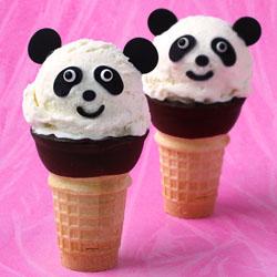 Ice Cream Cone Pandas