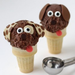 Chocolate Ice Cream Cone Puppies