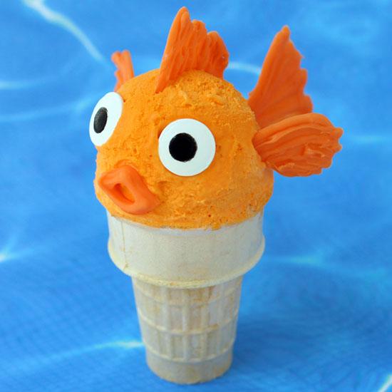 Orange Ice Cream Cone Goldfish Fun Family Crafts