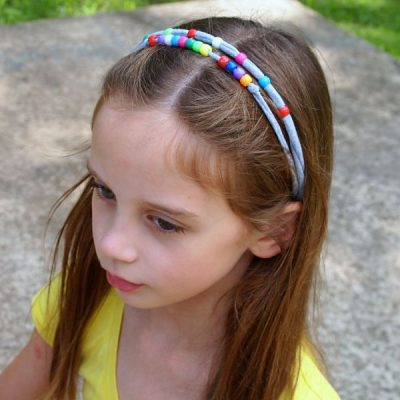 Beaded T-Shirt Headbands