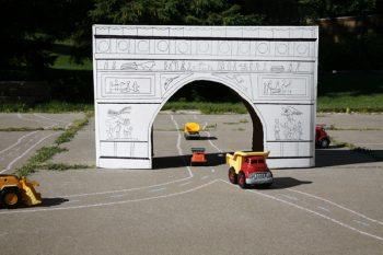 Cardboard Arc de Triomphe