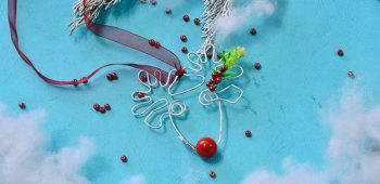 Wire Reindeer Ornament