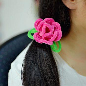 Chenille Stem Flower Hair Band
