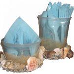 Seashell Utensil and Napkin Holder