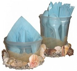 Seashell Utensil and Napkin Holder