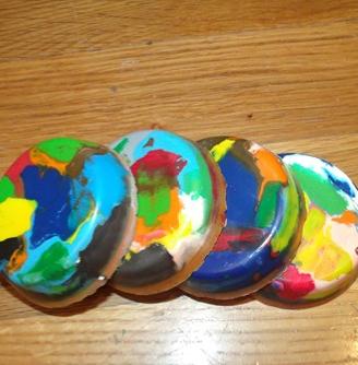 Rainbow Crayon Discs