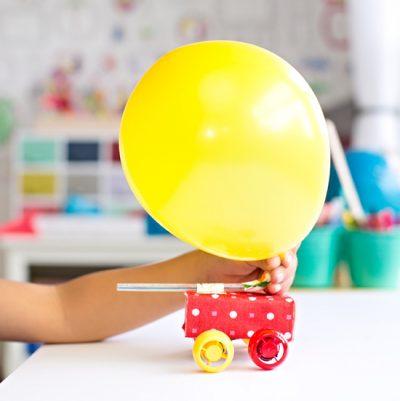 Balloon Juice Box Car