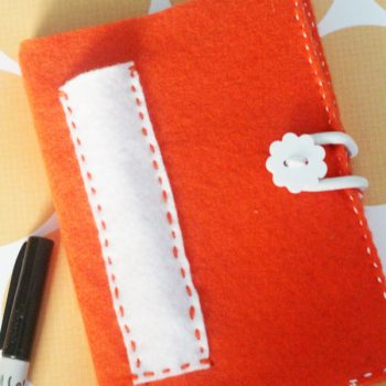 Felt Covered Notebook