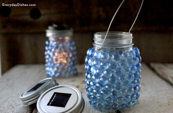 Glass Pebble Lantern