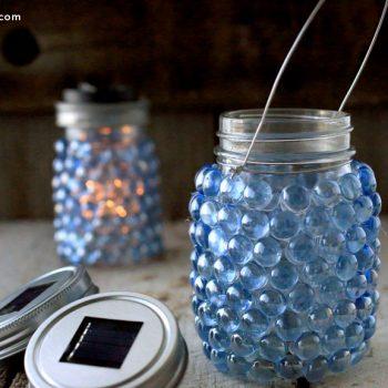 Glass Pebble Lantern